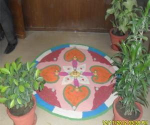 Diwali celebration in bluechip call center